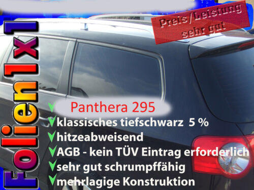 16,12€//qm 5mx50cm Shrinking Auto Tönungsfolie tiefschwarz Panthera 295 ABG 2-lag