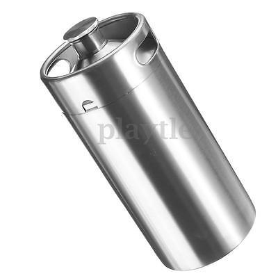 3.6L 127oz Stainless Steel Keg Growler Pot Bottle For Beer Wine Home Brew Making