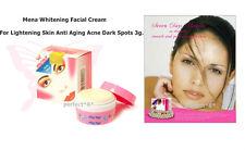 Mena Facial Cream Whitening Lightening Skin Remove Dark Spot Acne 3g. Original.