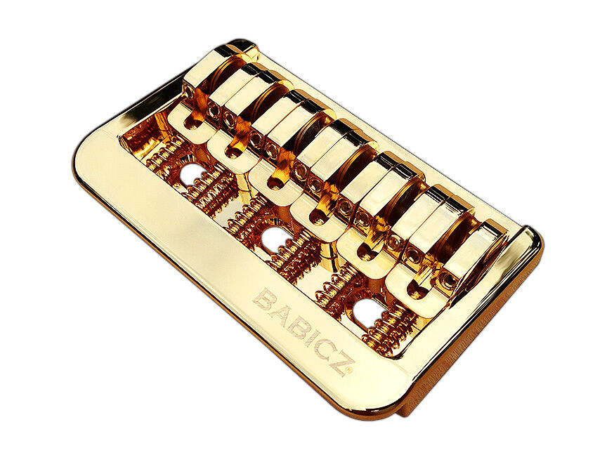 Babicz Full Contact Hardware Fixed 6 Hardtail Guitar Bridge - Gold