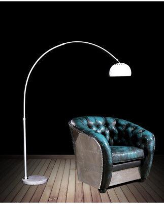 Piantana Lampada Da Terra Ad Arco Stelo 190x170 Cm Moderno Design Azurro Bianco Ebay