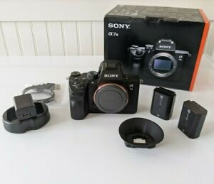 Sony a7 III Mirrorless Camera w/ 2 batteries, charger, 2x 128GB SD cards, ++