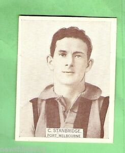 LARGE-SIZE-1933-VFL-WILLS-CIGARETTE-CARD-37-C-STANBRIDGE-PORT-MELBOURNE