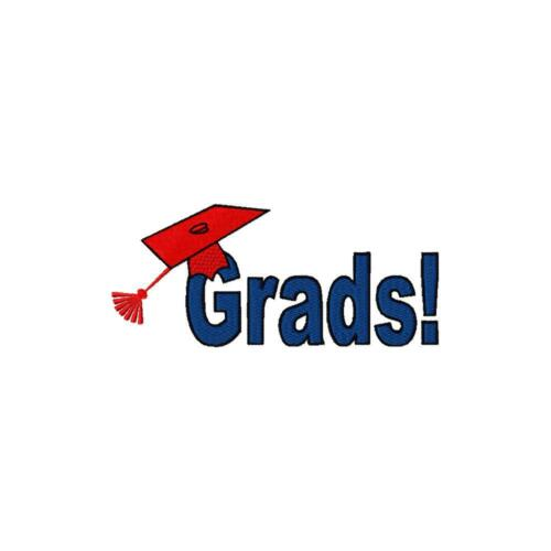 Graduation 7 Machine Embroidery Designs on CD 3 sizes Cap Star Diploma
