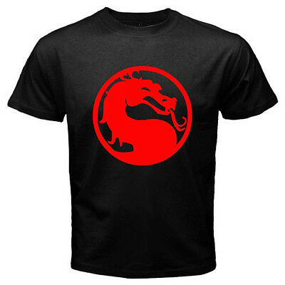 New MORTAL KOMBAT VIDEO GAME AND MOVIE LOGO Men's Black T-Shirt Size S-3XL
