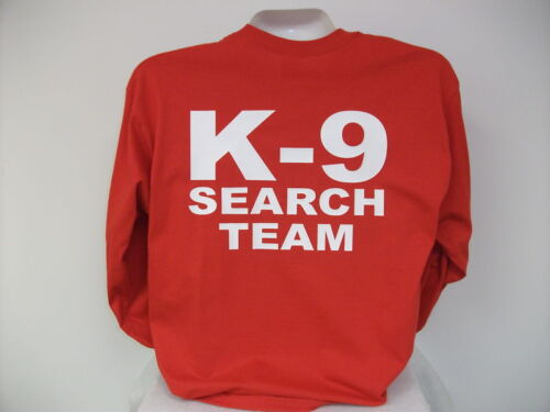 Search And Rescue L//S K-9 T-Shirt Search Team rd,,MED