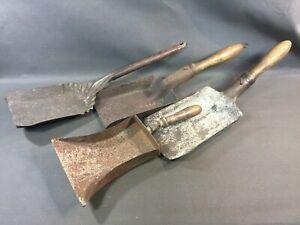 Lot-4-antique-shovels-charcoal-ash-chimney-vintage-deco-workshop-flea-market