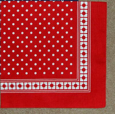 6 X 100% Cotone Bandanas Collo Foulard Fazzoletto Fazzoletti Macchia Rossa-secondi-mostra Il Titolo Originale Sconti Prezzo