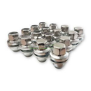 RANGE-ROVER-L322-NEW-FULL-STAINLESS-ALLOY-WHEEL-NUT-SET-X16-NUTS-RRD500510
