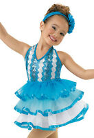 'ragtime' Blue White Tap Jazz Ice Skating Dance Competition Costume Dress