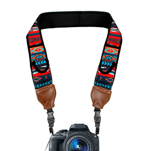 USA Gear Trueshot, Neoprene Shoulder Strap for Camera with Pockets Rack