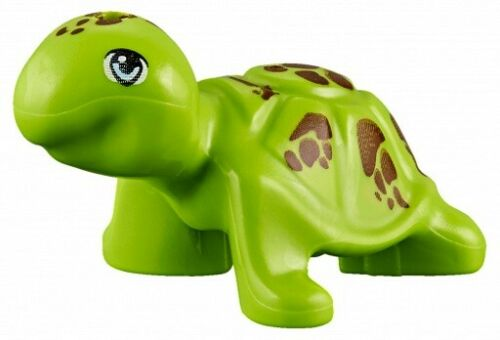 ☀️NEW Lego Friends Animal Lime Green Sea Turtle brown spots Ocean Water Minifig