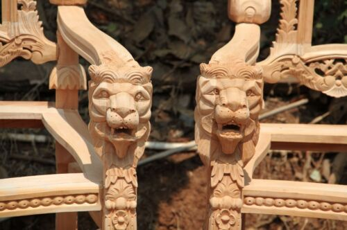 180cm Natural Lion King Gothic THRONE CHAIR prop movie showhouse club & hotels