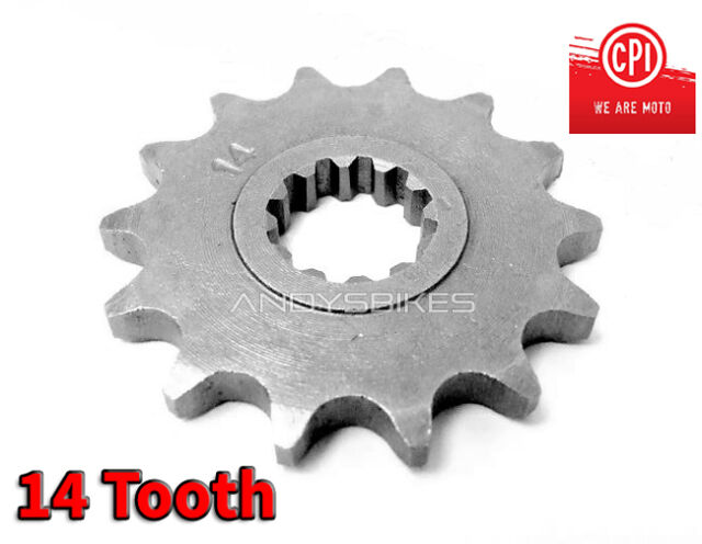 14 Tooth 14T Heavy Duty Front Gearbox Drive Sprocket CPI SM50 SM SX50 SX 50 50cc