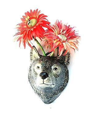 Leopard Wall Vase by Quail pottery Wall hanging Pot Flower display Gift Boxed