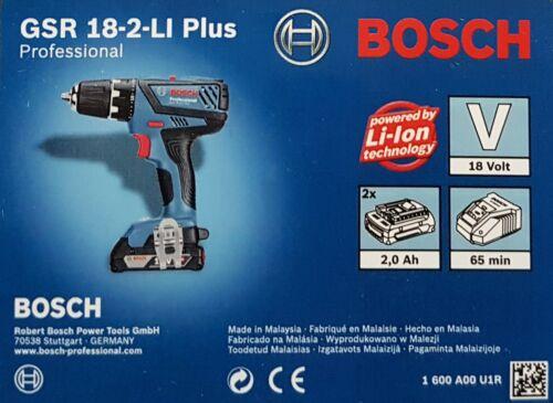 Bosch Professional destornillador eléctrico GSR 18-2-li plus 2x batería alim L-Boxx nuevo