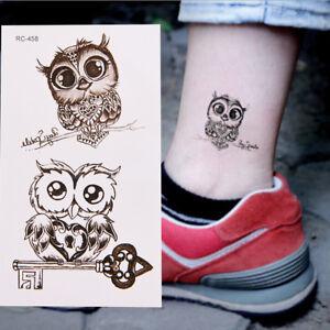1Pc-Makeup-Cute-Owl-Tattoo-Arm-Body-Art-Waterproof-Temporary-Tattoo-Stickers-JD