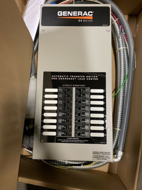 Generac 6295 30a Manual Transfer Switch System For Sale