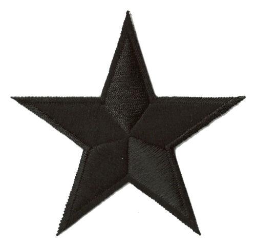 Patche écussontransfert étoile noire 85 mm patch embellissement DIY brodé