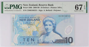 New Zealand 10 Dollars 2006 P 186 b Polymer Superb Gem UNC PMG 67 EPQ
