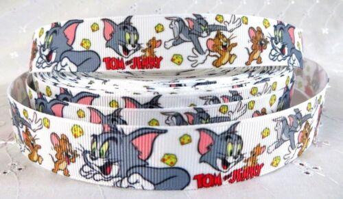 1 M X Cute Cartoon Cat M souris Gros-Grain Ruban 22//25mm craft cake Dummy Clip