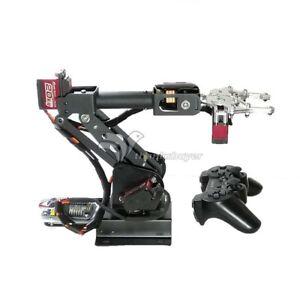 Details About Assembled 6dof Robot Arm Clamp Set Educational Diy Robotic Kit With Servo