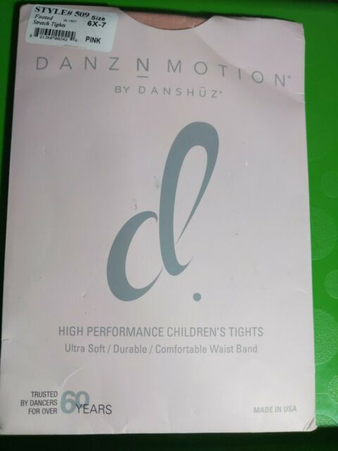 Danz N Motion by Danshuz Children/'s Footed Stretch Tights in Pink #509 Size 8-10