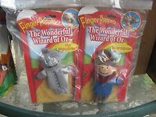 Wizard of Oz Finger Puppets set of 4 Dorothy Lion Scarecrow Tin Man NEW