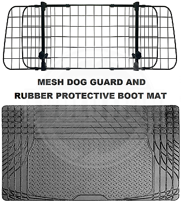 HEAVY DUTY BOOT LINER FOR CITROEN C4 ALL YEARS MESH HEADREST DOG GUARD