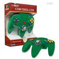 Solid Green Cirka Controller Pad Gamepad For N64 Nintendo 64