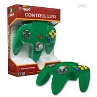 Solid Green Cirka Controller Pad Gamepad For N64 Nintendo 64