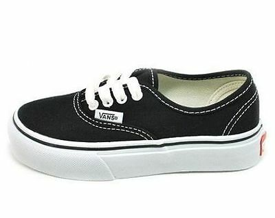 VANS OFF THE WALL SHOES STYLE 0EE0BLK AUTHENTIC BLACK WHITE GIRLS SNEAKERS YOUTH