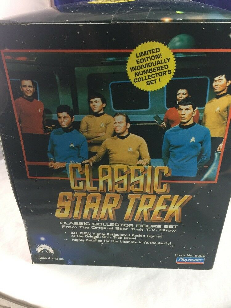 nouveau  Limited Edition Classic Star Trek Bridge Collector Set 6090 1993 Playmates  promotions d'équipe