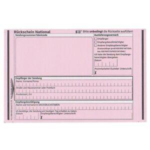 Deutsche Post Rückschein National 50er Pack