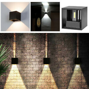 12W-Modern-LED-COB-Wall-Light-Up-Down-Cube-Sconce-Lamp-Fixtures-Waterproof-IP65