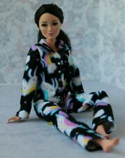 №112 Clothes for Barbie Doll Flannel Pajamas for Dolls.