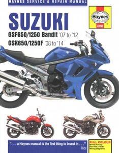 Suzuki-gsf650-1250-Bandit-gsx650f-039-07-039-14-Haynes-Reparaturanleitung-Taschenbuch-von