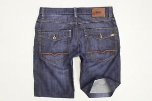 Hugo-Boss-Comfort-Fit-Blue-Denim-Shorts-W32