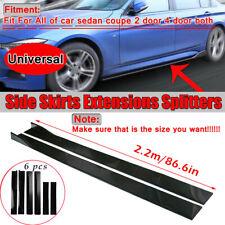 866 Side Skirt Extension Rocker Panel Body Kit Lip Splitters For Universal Car Fits Toyota Yaris