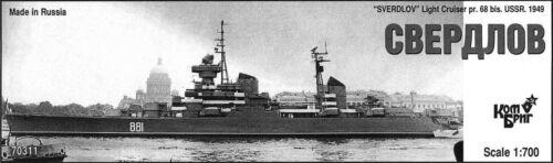 Combrig 1//700 Light Cruiser Sverdlov Project 68bis 1949 Resin Kit