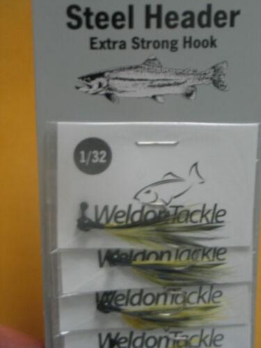 Lot Of 12 Weldon Steel Header Jigs 1//32oz CATS EYE