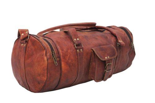 New Bag Leather Goat Duffle Gym Luggage Travel Vintage Genuine Overnight Weekend