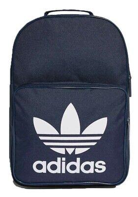 adidas Originals DJ2171 Unisex Classic Trefoil Backpack Blue Back To School Bag 4059807663099 | eBay