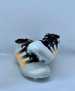 hot sales 7f57c 325ce Details about Adidas Ace 16.2 Primemesh FG/AG White/Solar Gold/Black Soccer  Cleats
