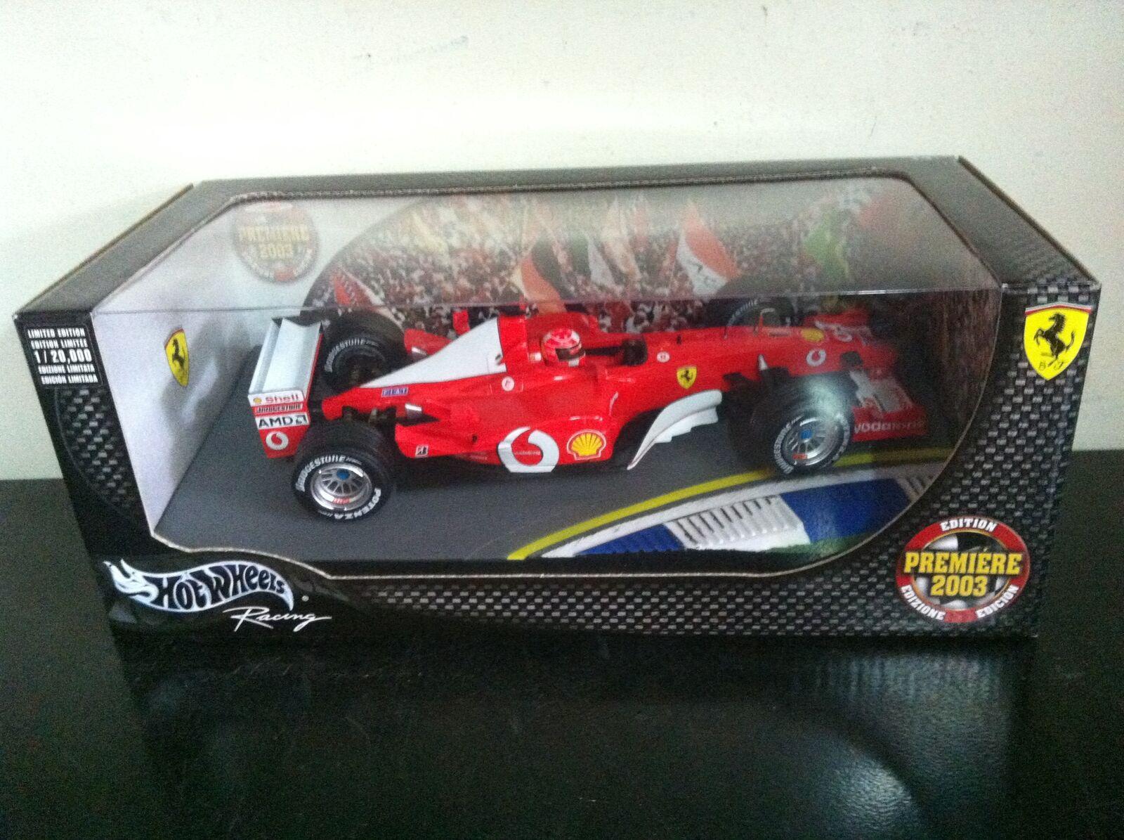 Mattel Hot Wheels 1 18 F1 FERRARI F-2003 Schumacher PREMIERE EDITION MIB, 2003