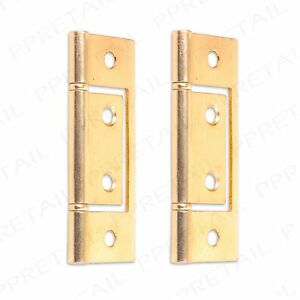 Image Is Loading 76mm Br Pair Of Flush Hinges Bedroom Cupboard