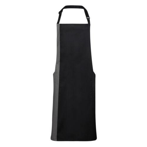 Grembiule premier masterchef cucina bicolore tasche laterali personalizzabile