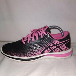 Asics Gel Super J33 2 Women's Running Shoe's Black Pink Silver t5p7n-9035 Size 8