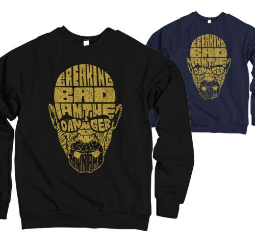 Herren Sweatshirt Pullover Breaking Heisenbergs Text Art Danger Neu  HT171017SW