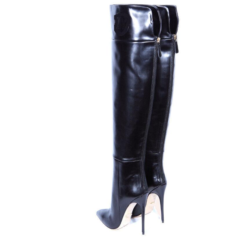 Para mujer Puntera en Punta Stretch Alto muslo la rodilla botas altas Club De Alto Stretch Tacón Alto Tacones Zapatos 2601d6